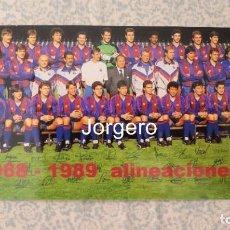 Coleccionismo deportivo: F.C. BARCELONA. PLANTILLA 1988-1989. CAMPEÓN RECOPA. FOTO. Lote 212381287