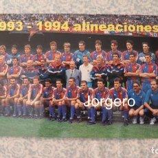 Coleccionismo deportivo: F.C. BARCELONA. PLANTILLA 1993-1994. CAMPEÓN DE LIGA. FOTO. Lote 212381421