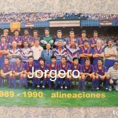 Coleccionismo deportivo: F.C. BARCELONA. PLANTILLA 1989-1990. CAMPEÓN COPA DEL REY. FOTO. Lote 212381718