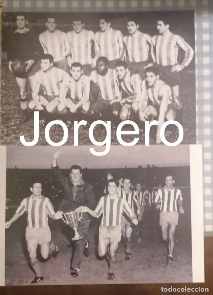 AT. MADRID. LOTE 2 FOTOS CAMPEÓN RECOPA 1961-1962 EN STUTTGART CONTRA LA FIORENTINA (Coleccionismo Deportivo - Documentos - Fotografías de Deportes)