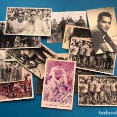 Collezionismo sportivo: 17 FOTOGRAFIAS CICLISMO LUIS PUIG - AÑOS 1950-1960-1970 - DOS AUTOGRAFOS ORIGINALES, VER FOTOS. Lote 213223142