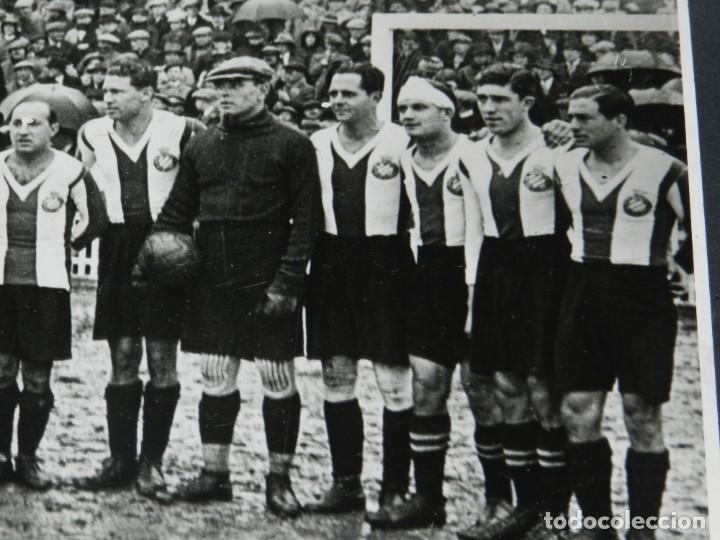 Coleccionismo deportivo: (M) FOTOGRAFIA CÓPIA DE LA ÉPOCA - RCD ESPAÑOL CAMPEÓN COPA TEMP 1928 / 29 RICARDO ZAMORA, SAPRISA - Foto 2 - 213537817
