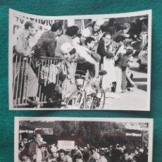Colecionismo desportivo: MARINO LEJARRETA CICLISTA EQUIPO TEKA FOTOGRAFÍA SUBIDA A MONTJUIC 1980 CICLISMO. Lote 213945882