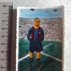Coleccionismo deportivo: FOTOGRAFIA ORIGINAL JUGADOR F.C BARCELONA COLOREADA AÑOS 40. Lote 217364180