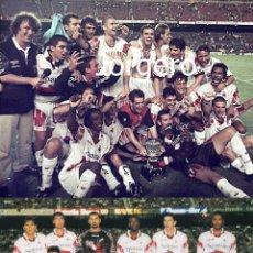 Coleccionismo deportivo: R.C.D.MALLORCA. LOTE 2 FOTOS CAMPEÓN SUPERCOPA DE ESPAÑA 1998 (V) EN EL CAMP NOU CONTRA EL BARCELONA. Lote 218548723