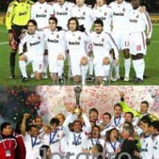 Coleccionismo deportivo: AC MILÁN. LOTE 2 FOTOS CAMPEÓN MUNDIAL DE CLUBS 2007 EN YOKOHAMA CONTRA BOCA JUNIORS. Lote 218549517