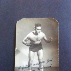 Coleccionismo deportivo: FOTOGRAFÍA LUCHADOR GRECORROMANA. ROMERO. CON AUTÓGRAFO. Lote 219260206