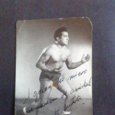Coleccionismo deportivo: FOTOGRAFÍA LUCHADOR GRECORROMANA. WILLY MARTÍN. CON AUTÓGRAFO. Lote 219260356
