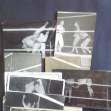 Coleccionismo deportivo: DIEZ FOTOGRAFÍAS DE COMBATES LUCHA GRECORROMANA. Lote 219263188