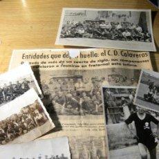 Coleccionismo deportivo: LOTE ANTIGUA FOTOGRAFIA FOTO EQUIPO FUTBOL CD CALAVERAS - 1934-44 MANRESA ? RECORTE PERIODICO. Lote 219757656