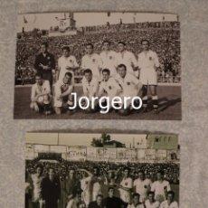 Coleccionismo deportivo: VALENCIA C.F. LOTE 2 FOTOS CAMPEÓN COPA GENERALÍSIMO 1948-1949 EN CHAMARTÍN CONTRA ATH. BILBAO. Lote 220429556