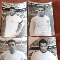 Coleccionismo deportivo: LOTE CON 4 FOTOGRAFIAS DE FUTBOLISTAS DEL SEVILLA C.F. VER TODAS. Lote 221450025
