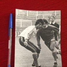 Coleccionismo deportivo: R10403 FOTO FOTOGRAFIA ORIGINAL DE PRENSA ANTONIO ÁLVAREZ GIRÁLDEZ SEVILLA 1983 SELECCION ESPAÑA. Lote 221657040