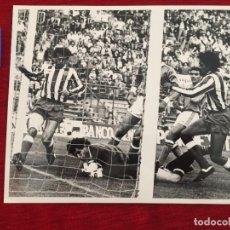 Coleccionismo deportivo: F10539 FOTO FOTOGRAFIA ORIGINAL DE PRENSA ATLETICO MADRID ATHLETIC BILBAO ZUBIZARRETA CABRERA PIZO. Lote 221713091
