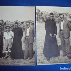 Coleccionismo deportivo: (FOT-201036)LOTE DE 2 FOTOGRAFIAS PARTIDO DE FUTBOL - FOTOS JUANITA BIARNES (TERRASSA). Lote 222351292
