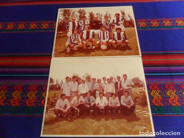 LOTE 2 FOTO ORIGINAL REAL MADRID ALFREDO DI STEFANO MARQUITOS, MARCOS ALONSO, PACHÍN, ALFONSO USSÍA. (Coleccionismo Deportivo - Documentos - Fotografías de Deportes)