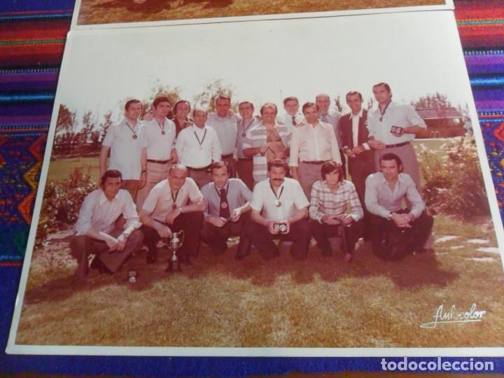 Coleccionismo deportivo: LOTE 2 FOTO ORIGINAL REAL MADRID ALFREDO DI STEFANO MARQUITOS, MARCOS ALONSO, PACHÍN, ALFONSO USSÍA. - Foto 2 - 223946517