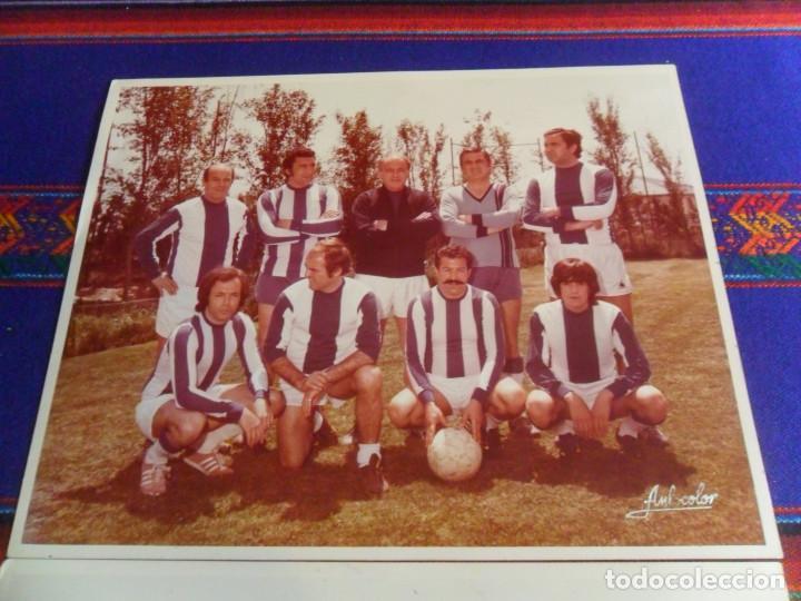 Coleccionismo deportivo: LOTE 2 FOTO ORIGINAL REAL MADRID ALFREDO DI STEFANO MARQUITOS, MARCOS ALONSO, PACHÍN, ALFONSO USSÍA. - Foto 5 - 223946517