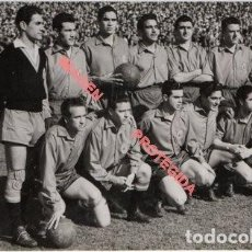 Coleccionismo deportivo: MADRID, 1955, PARTIDO ESPAÑA -FRANCIA, ALINEACION SELECCION ESPAÑOLA, 14X9 CMS. Lote 225982295
