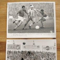 Coleccionismo deportivo: LOTE 2 FOTOGRAFIAS ORIGINALES RCD ESPAÑOL- REAL SOCIEDAD 1957-60 PEREZ DE ROZAS 24X18CM. Lote 226255375