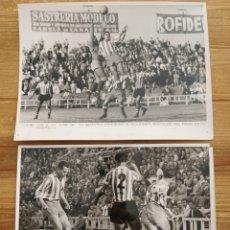 Coleccionismo deportivo: LOTE 2 FOTOGRAFIAS ORIGINALES RCD ESPAÑOL-BANGU DE BRASIL 1958 ORIGINALES PEREZ DE ROZAS 24 X 18CM. Lote 226258205