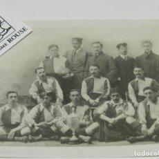Coleccionismo deportivo: FOTOGRAFÍA ORIGINAL DEL ATH BILBAO 1905 - LARREA, URIBE, MAGUREGUI - 15X11CM,. Lote 228125510