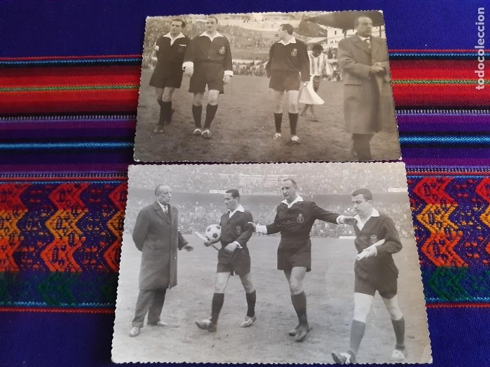 Coleccionismo deportivo: FOTO REAL MADRID VS CÓRDOBA CF GENTO JUANÍN ÁRBITRO JOSÉ LUIS LÓPEZ ZABALLA. 9-4-1967. 3 DE REGALO. - Foto 5 - 230229990