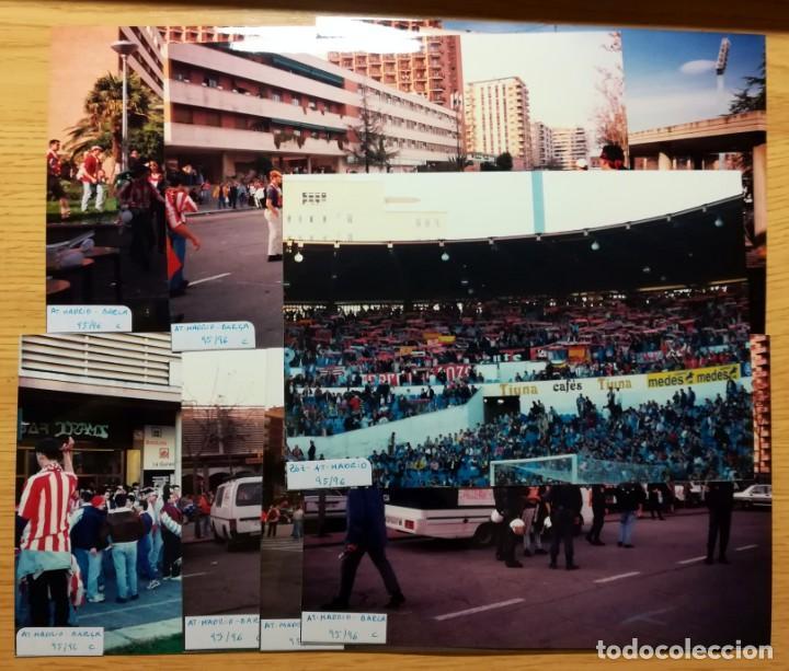 Coleccionismo deportivo: FOTOGRAFIAS AFICIONADOS FINAL COPA REY ATLETICO MADRID FC BARCELONA LA ROMAREDA 1995-96 ZARAGOZA - Foto 2 - 230607710