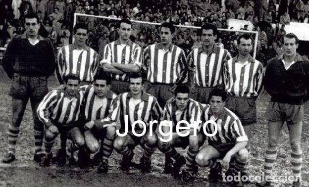D. ALAVÉS. ALINEACIÓN PARTIDO DE LIGA 1954-1955 EN MENDIZORROZA CONTRA EL VALENCIA. FOTO (Coleccionismo Deportivo - Documentos - Fotografías de Deportes)