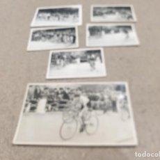 Coleccionismo deportivo: ANTIGUAS FOTOGRAFIAS DE PRUEBAS CICLISTAS REALIZADAS EN VELODROMO DEL PASEO DE LA QUINTA...BURGOS.... Lote 236713610