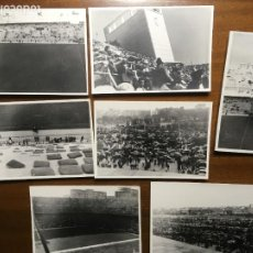 Coleccionismo deportivo: REAL MADRID 7 FOTOGRAFIAS AÑOS 50 DEL ANTIGUO ESTADIO CHAMARTÍN LUEGO SANTIAGO BERNABEU. 10X7 CMS. Lote 237011715