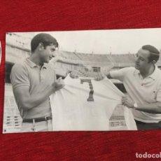 Coleccionismo deportivo: F13500 FOTO FOTOGRAFIA ORIGINAL DE PRENSA REAL MADRID MIGUEL PEREZ (13-8-1968). Lote 237526700