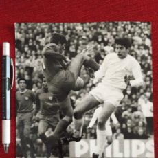 Coleccionismo deportivo: F13506 FOTO FOTOGRAFIA ORIGINAL DE PRENSA REAL MADRID 3-1 MALAGA (7-1-1968) MIGUEL PEREZ. Lote 237527775