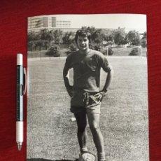 Coleccionismo deportivo: F13513 FOTO FOTOGRAFIA ORIGINAL DE PRENSA REAL MADRID (21-8-1971) MIGUEL PEREZ. Lote 237531335