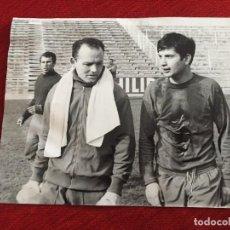 Coleccionismo deportivo: F13518 FOTO FOTOGRAFIA ORIGINAL DE PRENSA REAL MADRID MIGUEL PEREZ AMANCIO 1970. Lote 237532565