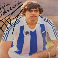 Coleccionismo deportivo: FOTOGRAFIA DEL FUTBOLISTA LOPEZ UFARTE FIRMADA. Lote 238301230