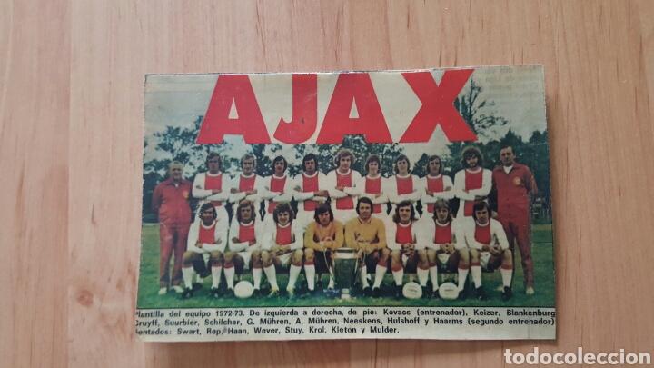 FOTOGRAFIA ORIGINAL AJAX AMSTERDAM 1972-73 CRUYFF NEESKENS (Coleccionismo Deportivo - Documentos - Fotografías de Deportes)