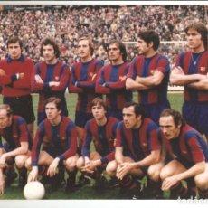 Coleccionismo deportivo: FOTO TAMAÑO 30 X 20 ALINEACION AÑO 1877 BARCELONA CON CRUYFF. Lote 244453675