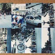 Coleccionismo deportivo: LOTE 12 FOTOS CICLISMO VUELTA CICLISTA VALENCIA TOUR 1992 1993 PELOTON FOTOGRAFÍA BANESTO AÑOS 90. Lote 245493185