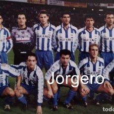Collectionnisme sportif: D. ALAVÉS. ALINEACIÓN PARTIDO COPA DEL REY 1992-1993 EN EL MOLINÓN CONTRA S. GIJÓN. FOTO. Lote 247706220