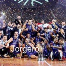 Coleccionismo deportivo: SAN PABLO BURGOS BALONCESTO. GANADOR CHAMPIONS LEAGUE 2019-2020 EN ATENAS CONTRA AEK. FOTO. Lote 247709770