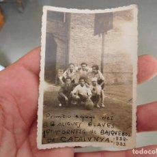 Coleccionismo deportivo: FOTOGRAFÍA ORIGINAL DEL EQUIPO DE BALONCESTO ALIGUES BLAVES 1932 1933 BASKET. Lote 250319005