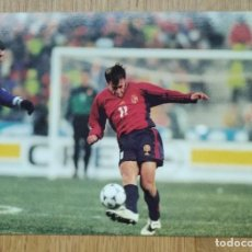Colecionismo desportivo: SELECCIÓN ESPAÑOLA - ESPAÑA - ALFONSO - ZIDANE - COLECCIÓN OFICIAL DE FOTOGRAFÍAS - FRANCIA 98. Lote 252814775
