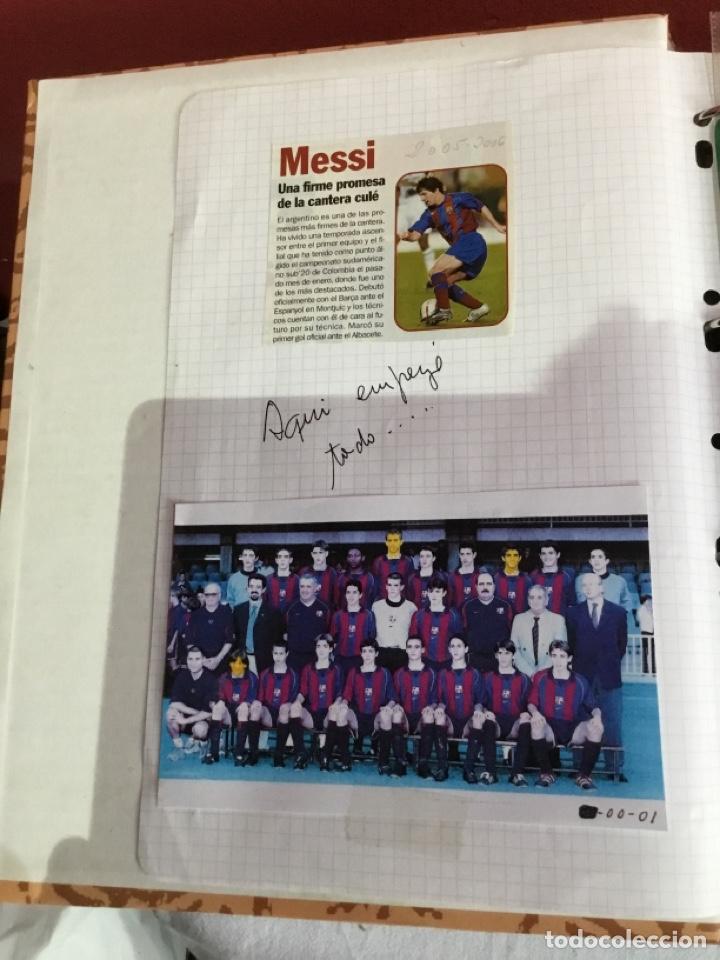 Coleccionismo deportivo: Messi . Album con mejores recortes de las revistas del futbolista Messi - Foto 3 - 256145705