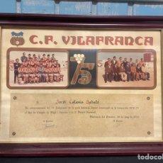 Coleccionismo deportivo: CLUB FÚTBOL VILAFRANCA TEMPORADA 1978 1979 FOTOS ORIGINALES. Lote 259758220