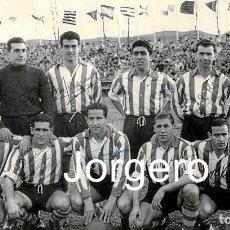 Collectionnisme sportif: D. ALAVÉS. ALINEACIÓN PARTIDO COPA GENERALÍSIMO 1952-1953 EN MENDIZORROZA CONTRA EL BURGOS. FOTO. Lote 262335850
