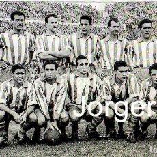 Collectionnisme sportif: D. ALAVÉS. ALINEACIÓN PARTIDO DE LIGA 1954-1955 EN EL METROPOLITANO CONTRA AT. MADRID. FOTO. Lote 262335975