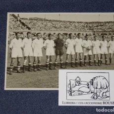 Coleccionismo deportivo: (M) FOTOGRAFÍA ORIGINAL R MADRID CAMPEON DE ESPAÑA 1946 - R MADRID 3 - VALENCIA FC 1. Lote 262595055