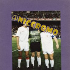 Coleccionismo deportivo: MARADONA SEVILLA FC 4 FOTOGRAFIAS ORIGINALES DE SEGUI INFORMADORES GRAFICOS PRENSA MEDIDAS 22 X 15. Lote 269369553
