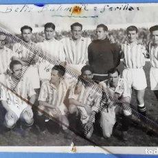 Coleccionismo deportivo: BETIS. FUTBOL. SEVILLA. FOTO ORIGINAL BETIS CAMPEON DE LIGA 1934 - 1935. Lote 270107758
